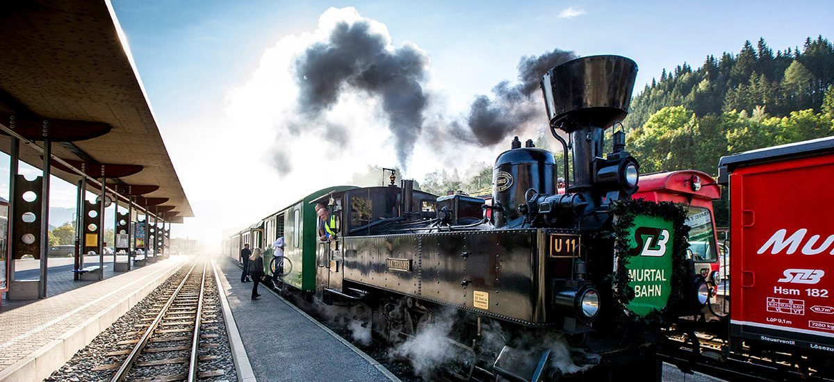 Murtalbahn - Ausflugsziel im Urlaub im Murtal